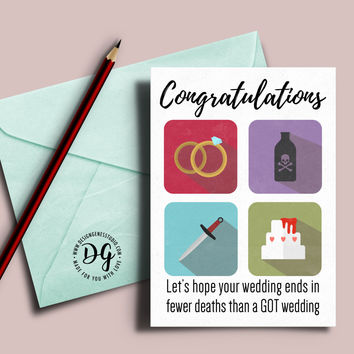 Funny Game of Thrones Red wedding card
