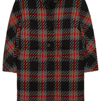 Miu Miu - Oversized checked wool-tweed coat
