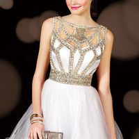 Alyce Paris 3591 - White Beaded Cut Out Sweet 16 Dresses Online