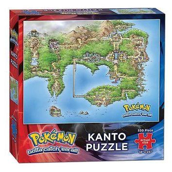 "USAopoly Pokemon Kanto Puzzle 550 Piece 18"" x 24"" Finished Size"