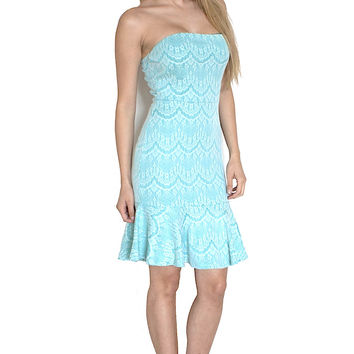 Strapless Lace Ruffle Dress (more colors)