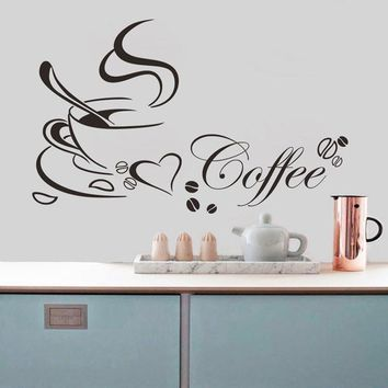 Festival Fashion 2016 Removable Kitchen Decor Coffee Cup Home Decals Vinyl Art Wall Sticker