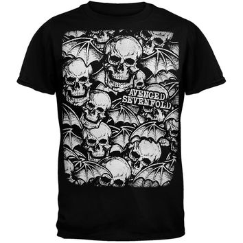Avenged Sevenfold - All-Over Deathbats T-Shirt