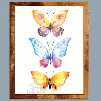 Butterfly, watercolor butterfly, butterfly print, butterfly art, watercolor print, watercolor, butterfly painting, print, butterflies, art