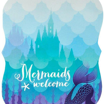 mermaids under the sea invitations Case of 4