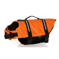 Dog life Jacket Safer Vest Swimming Jacket Flotation Float life Jacket Orange XXS