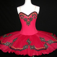 Ballet Tutu - Black & Red Performance Ballet Tutu