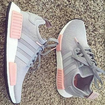 """Adidas"" NMD Women Fashion Trending Running Sports Shoes F grey"