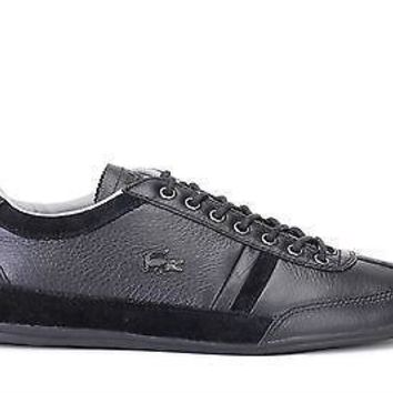 Lacoste Mens Shoes Misano 36 SRM Black Leather
