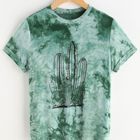 Tie Dye Print Short Sleeve T-shirt
