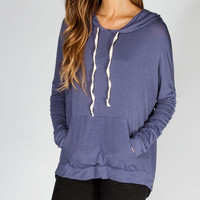 Full Tilt Womens Hi Low Hoodie Blue  In Sizes