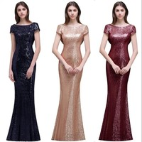 Mermaid Sequined Wedding Guest Party Dress