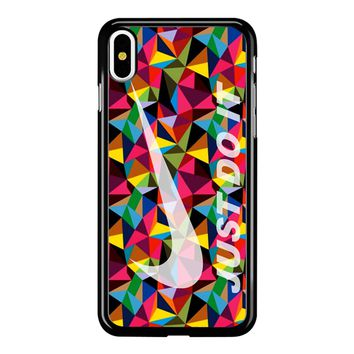 Nike Just Do It Geometrick iPhone X Case
