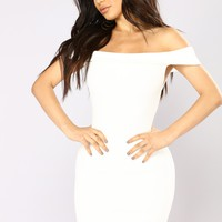 Leyla Ribbed Dress - Ivory