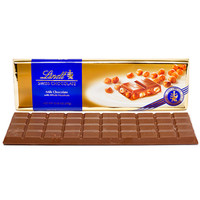 Lindt 10.5-Ounce Chocolate Gold Bar - Swiss Hazelnut: 10-Piece Case