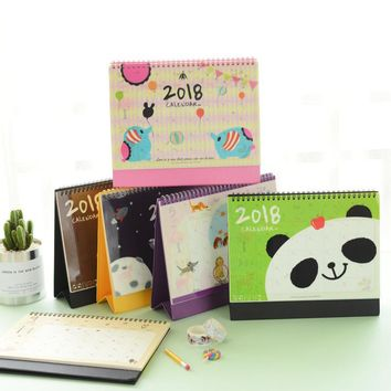 Cute Animal panda printed Desk Table Calendar