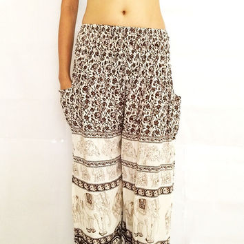 boho hippie pants elephant pants long pants for women charming