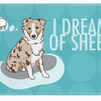 Pop Doggie I Dream of Sheep Red Merle Australian Shepherd Fridge Magnet