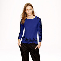 Merino embroidered lace sweater