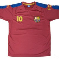 Lionel Messi Replica Barcelona Jersey, Maroon - Extra Large