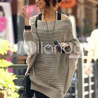 Popular Woolen Blend Batwing Sleeve Women's Sweater Dress -  Milanoo.com