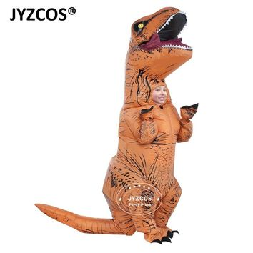 JYZCOS Kids Inflatable costume Dinosaur Costume Dino cartoon characters fancy dress T-Rex Costume Blow Up animal mascots Cosplay