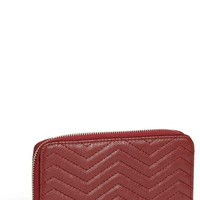 Under One Sky Chevron Quilted Wallet (Juniors) | Nordstrom