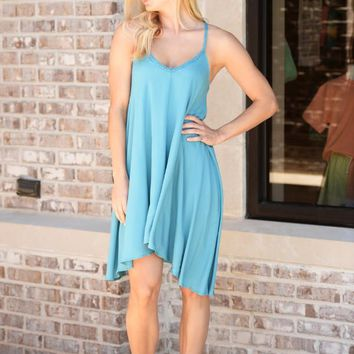 Rope Strap Flare Dress
