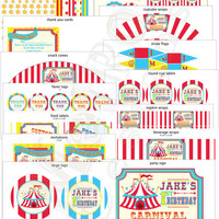 Circus or Carnival Theme Party Package - Digital File, PRINTABLE, D.I.Y. - by Metro Events/Metro-Designs
