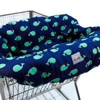 Ritzy Sitzy Whale Watch Blue Shopping Cart Cover + High Chair Cover