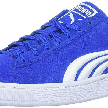 PUMA Men's Suede Classic Badge Sneaker,Lapis Blue White,9 M US