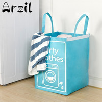 Woven Foldable Clothes Laundry Basket Woven Bag Toy Hamper Sotrage Bin Box Sundries Organizer Household Storage Tools Houseware