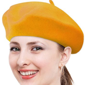 Solid Color French Wool Beret