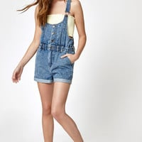 PacSun Rio Blue Denim Shortalls at PacSun.com