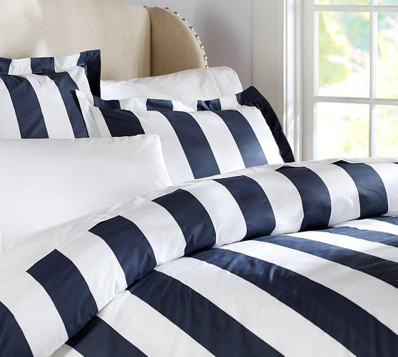 Pb Classic Stripe 400 Thread Count Duvet From Pottery Barn