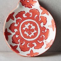 Gloriosa Spoon Rest by Anthropologie in Coral Size: Spoon Rest Kitchen