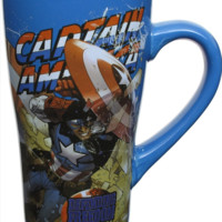 Captain America Defending Freedom Fluted Mug