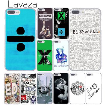 Lavaza ed sheeran Fashion Hard Cover Case for Apple iPhone 8 7 6 6S Plus 5 5S SE 5C 4 4S X 10 Coque Shell