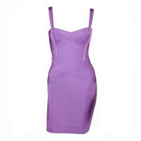 Purple Bandage Mini Dress