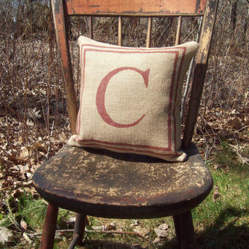 Initial Pillow / Wedding or Anniversary Gift Pillow by North Country Comforts / Personalized Pillow