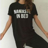 NAMASTE IN BED Cotton T-shirt B0014787