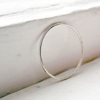 Thin Stacking Ring Sterling Silver