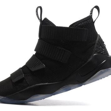 Nike LeBron Soldier 11 Black Men Basketball Sneakers Sports Shoes