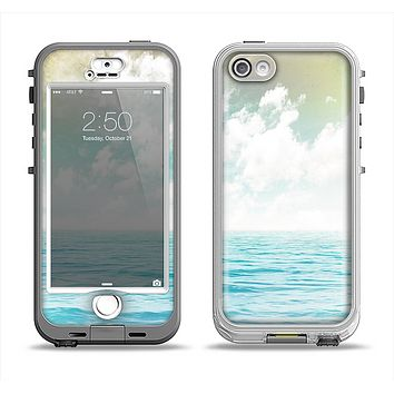 The Paradise Vintage Waves Apple iPhone 5-5s LifeProof Nuud Case Skin Set