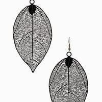 Leaf It To Me Drop Statement Earrings