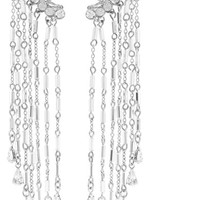 Erickson Beamon - Paper Cranes silver-tone crystal and bead earrings