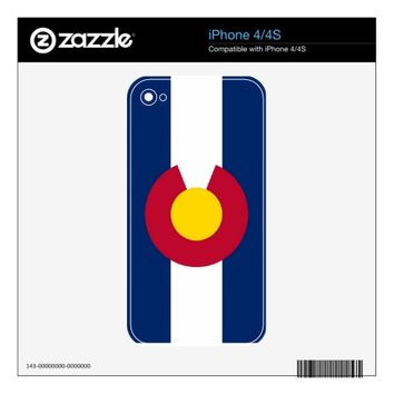 Colorado Flag I Phone 4 Skin Skins For iPhone 4