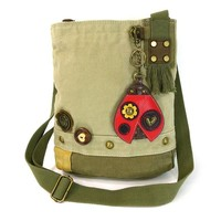 Ladybug Patch Crossbody Bag