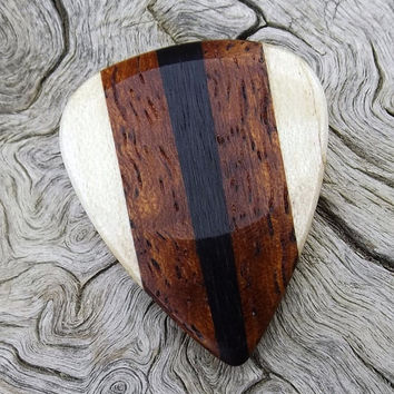 Multi-Wood Guitar Pick - Premium Quality - Handmade - Actual Pick Shown - Artisan Guitar Pick