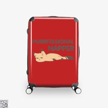 Purrfessional Napper, Cat Suitcase